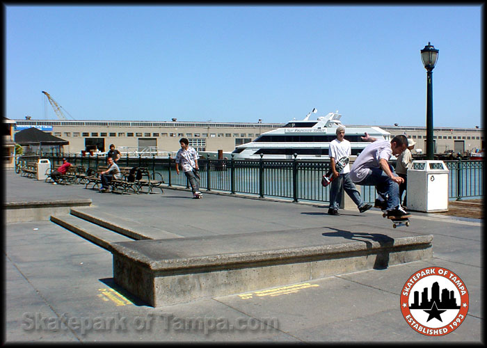 Rob Meronek Ollies at Pier 7 | Skatepark of Tampa Photo