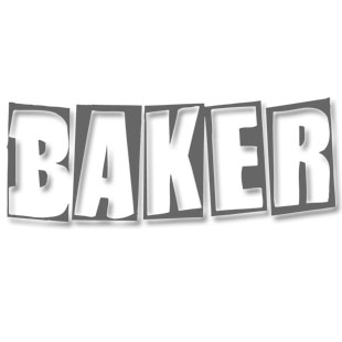 Baker Smoke Stacked Logo Deck