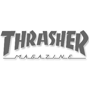 Thrasher Magazine Tiger Stripe Logo T Shirt