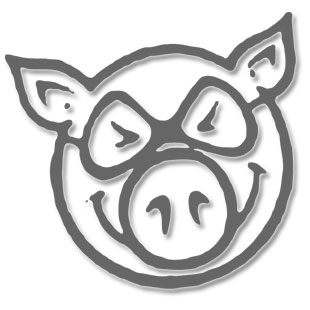 Pig Pig Head Swirl Wheels