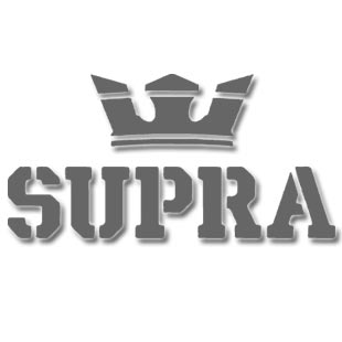 Supra Terry Kennedy Stacks Shoes, Black/ White