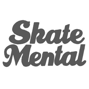 Skate Mental Smiley Shot Sticker