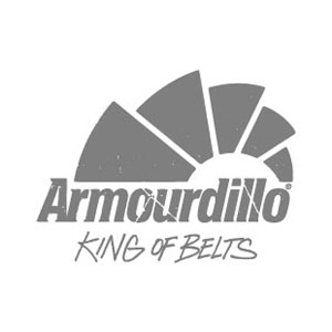 Armourdillo Pyramid Emboss Leather Belt