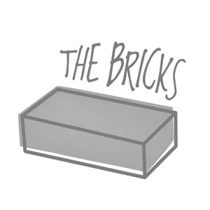 The Bricks Square Logo Sticker