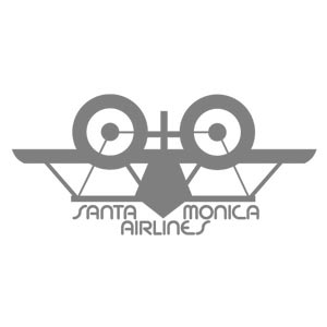 Santa Monica Airlines Natas Panther T Shirt, Charcoal