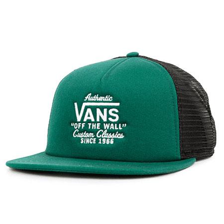 6379db0c43b Vans Galer Trucker Snapback Hat Evergreen  18.00