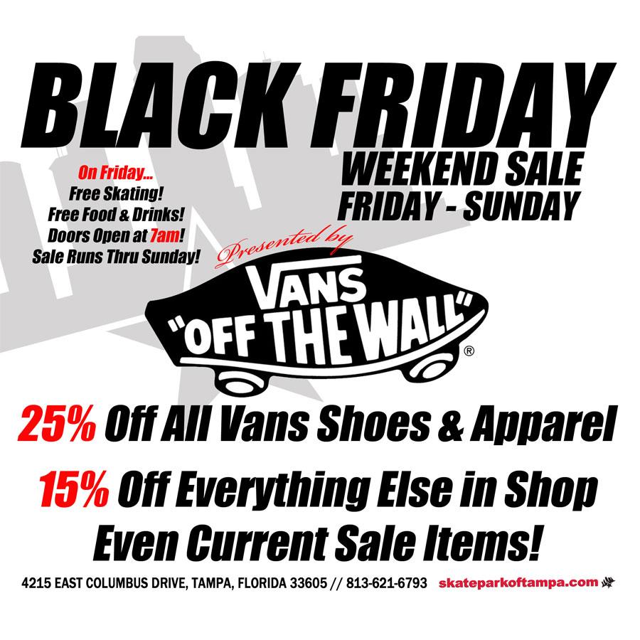 Vans Skate Shoes Black Friday