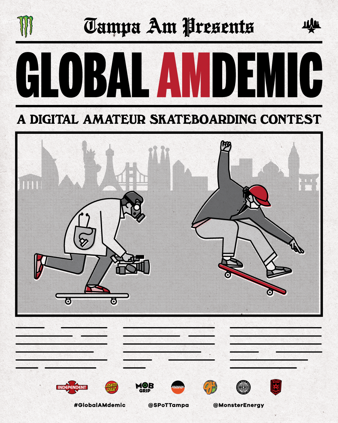 Global AMdemic Social Media Flyer