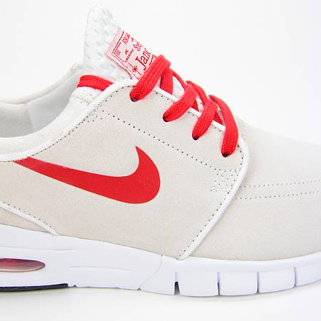 Nike Stefan Janoski Max L Shoes, Summit White/ University Red/ White/ Black  Photos