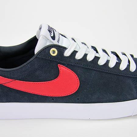 info for 092ef 3bad4 ... Nike Blazer Low GT Shoes, Dark Obsidian Gym Red White Photos ...