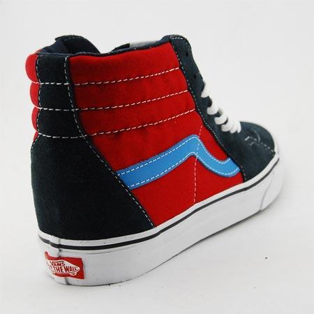 vans sk8-hi sneaker dress blues / chili pepper