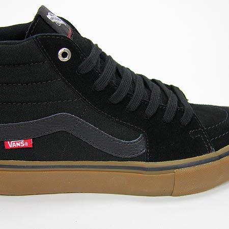 vans sk8-hi pro shoes - black/gum