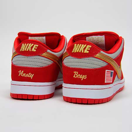 brand new 9fcdc 1e767 Nike Nasty Boys Dunk Low Pro SB Shoes, Challenge Red/ White ...