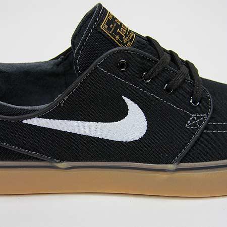 online retailer 8d0d2 b6a80 Nike Zoom Stefan Janoski Canvas Shoes, Black  White  Metallic Gold  Gum  Light Brown Photos
