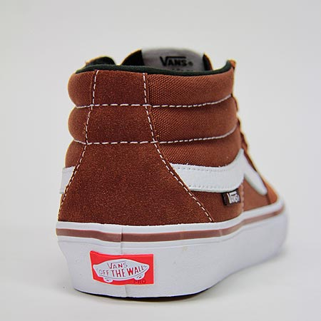 Vans Sk8-Mid Pro Shoes, Cappuccino/ White in stock at SPoT Skate Shop