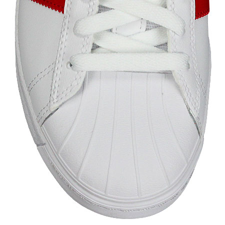 adidas superstar, bianco te le scarpe avanzati, bianco superstar, / scarlet / metallico. 83135e