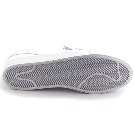 Nike Stefan Janoski SE Velcro Shoes, White/ White Photos. Close up. Back.  Sole