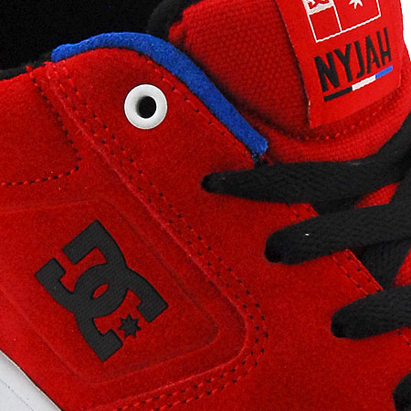 DC Shoe Co. Nyjah Huston S Shoes, Red Suede/ White Photos