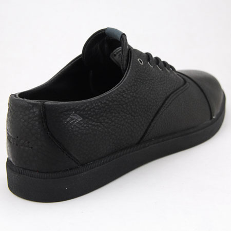 emerica shifter low shoes black leather black in stock