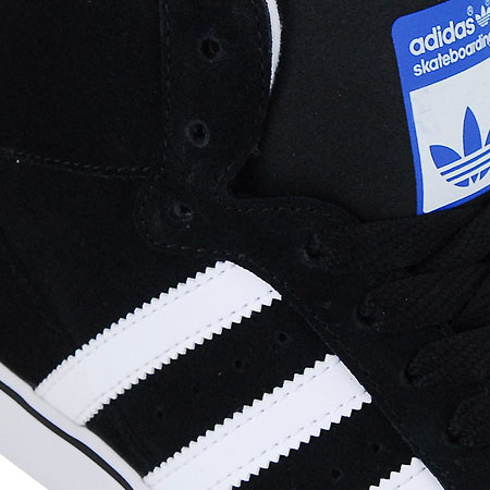 adidas campus vulc skate shoes - black/running white/bluebird