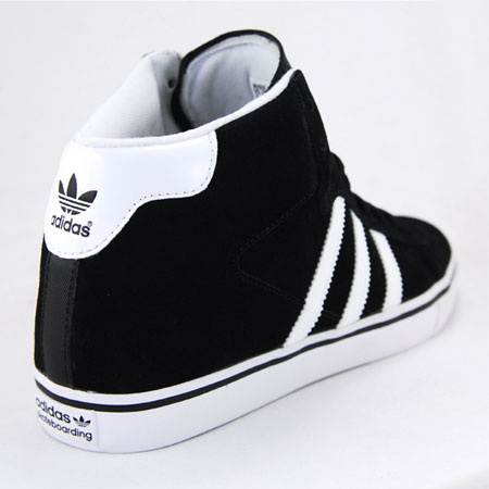 adidas campus vulc mid skate shoes - black/white/bluebird