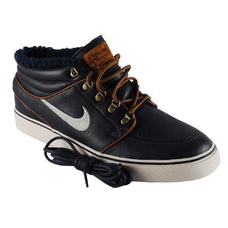 newest 3e827 08768 Nike Stefan Janoski Mid Premium QS Shoes, Dark Obsidian  Birch  Light  British Tan Photos. Sole. Back. Laces