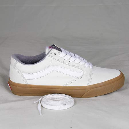 vans old skool white gum sole