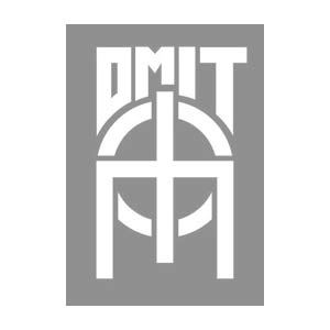 Omit Trade Post T Shirt, Heather Grey