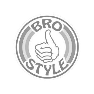 Bro Style Stripe Logo T Shirt, Heather Grey