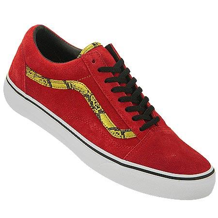 vans old skool red gold