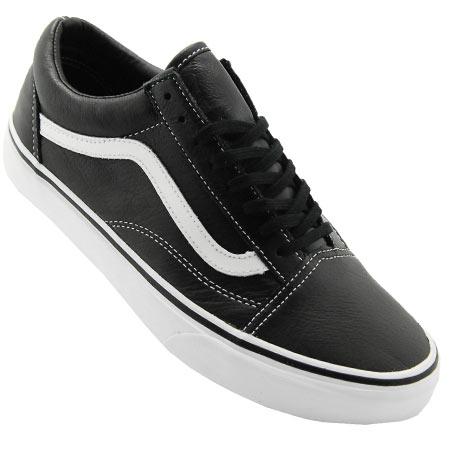 vans old skool black leather shoes
