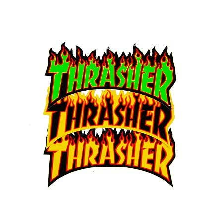 382e7624e426 Thrasher Magazine Flame Logo Sticker in stock at SPoT Skate Shop