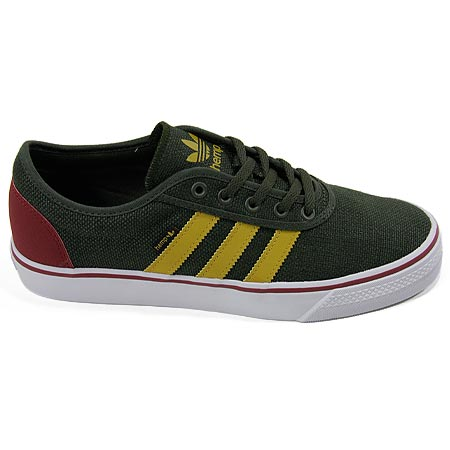 adidas Adi Ease Shoes, Dark Olive Hemp Yellow in stock at SPoT Skate Shop