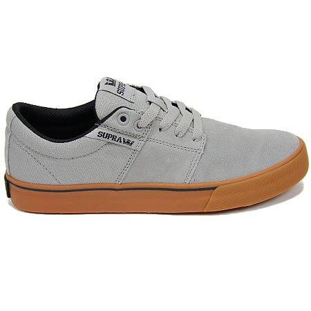 Supra Stacks Vulc II Shoes, Light Grey/ White