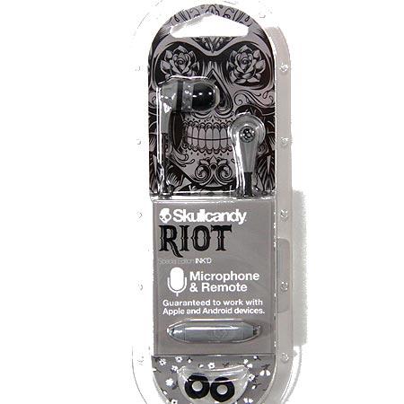 SKULLCANDY Riot Ink'd Mic'd Earbuds 226514313 | Headphones