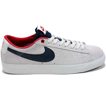 meet a5103 2e2ca Nike Blazer Low GT Shoes, Summit White Obsidian  University Red in stock at  SPoT Skate Shop