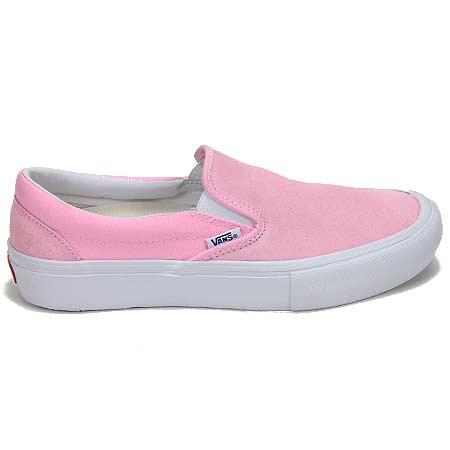 vans pink slip on