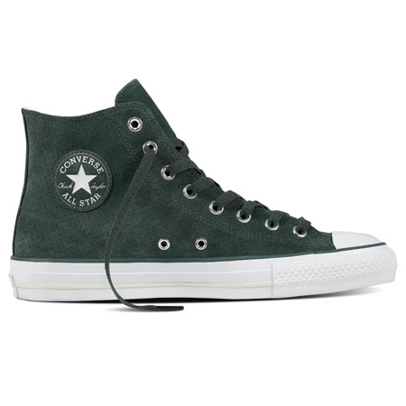 Chuck Taylor All-Star Pro Skate Hi Shoes Combat Green/ Perforated Suede