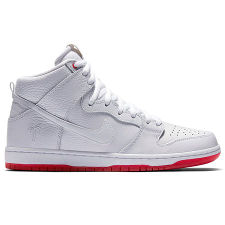 Nike Kevin Bradley SB Zoom Dunk High Pro QS Shoes, White/ White ...