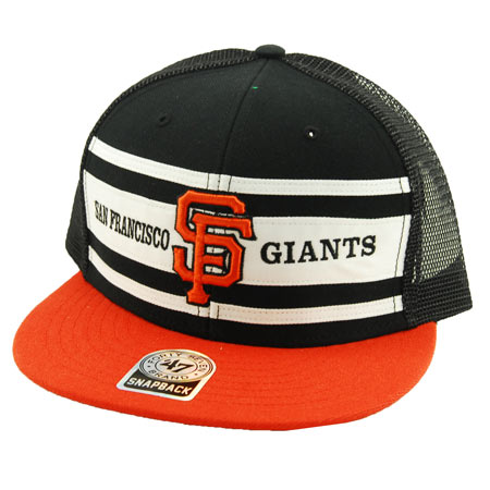 47 Brand San Francisco Giants Retro Super Stripe Mesh Snap-Back Hat f69b2e974c2
