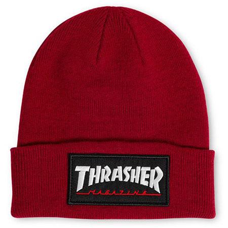 f29ef56ea03 Thrasher Magazine Logo Patch Beanie in stock at SPoT Skate Shop
