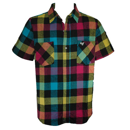 Neff Lodge Short Sleeve Flannel Shirt In Stock At Spot Skate Shop