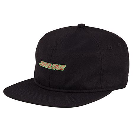 5a0c8be3a3a Santa Cruz Strip Unstructured Low Strapback Hat Black  Red  26.95