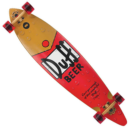 Santa Cruz The Simpsons Duff Pintail Longboard Complete In