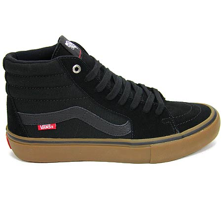 vans shoes black gum sole