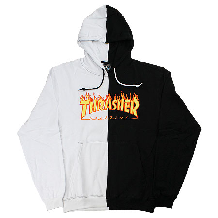 thrasher magazine thrasher flame logo split hoodie in