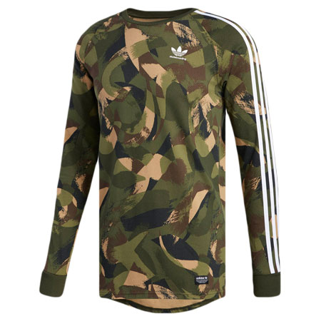 079b90ac35db8a adidas Long Sleeve Cali Camo T Shirt in stock at SPoT Skate Shop