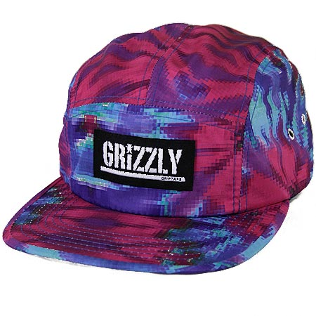 8d9c76f41bec8f Grizzly Digi Tie Dye 5-Panel Strap-Back Hat in stock at SPoT Skate Shop