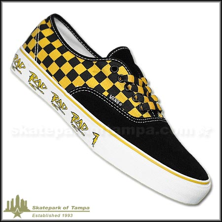 yellow and black checkered vans