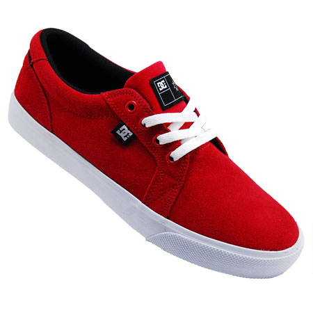 DC Shoe Co. Council S Shoes, Black Suede/ Biking Red/ White in ...